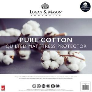 Logan and Mason Quilted Cotton Pillow & Mattress Protector 7 Sizes