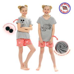 Girls Cute Koala Sloth Pyjama Set 100% Cotton Jersey