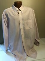 Brooks Brothers 346 Red Wht Blue Striped Dress Shirt Men's 18 Button Down