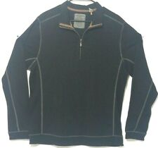 Tommy Bahama 1/4 zip long sleeve pull over Adult Large black