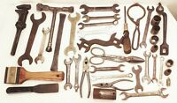 Vtg antique cast iron tool lot mechanic machinist farm carriage wrench
