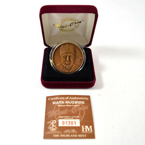 Highland Mint Mark McGwire Bronze Coin # out of 25,000