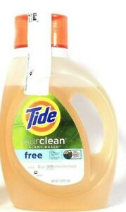 1 Bottles Tide 46 Oz PurClean Plant Base Free Of Perfumes Dyes 32 Lds Detergent