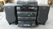 Sony Hi-Fi Stack System Tape Tuner 5 CD Record Player Remote Control Speakers