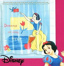 Disney Princess Snow White Waterproof Bath Shower Curtain with 12 Rings 17000