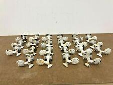 22 Vintage SHUTTER DOGS pair shell lock Victorian Cast Iron Hardware set metal