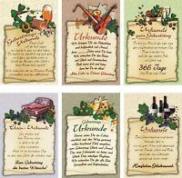 100 Glückwunschkarten zum Geburtstag Urkunde 51-1784 Geburtstagskarte Grußkarte