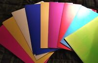 CraftbudyUS A4 SHEETS OF FOIL CARDSTOCK/ CRAFT - 250GSM, 9 color sheets