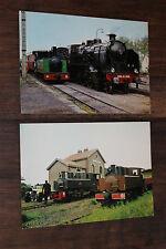 2 anciennes cartes postales - Locomotive SNCF 230 G 353 - 020 T Corpet Louvet