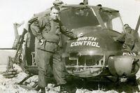 Vietnam War U.S. Army Huey Nick Named Birth Control War Photo 4x6 inch O