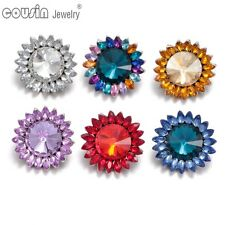 6pcs/lot New Colorful Sunflower 18mm Metal Snap Button Fit Snaps Jewelry KZ0343