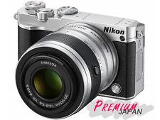 Nikon 1 J5 Silver Digital Camera VR10-30+30-110mm Double Zoom Lens Kit Japan New