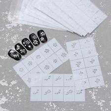 5 Sheets Nail Vinyls Stencil Set Star Flower Bowknot Manicure Stickers Random