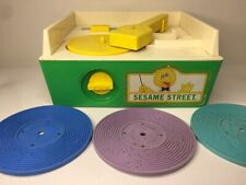 Fisher Price Sesame Street Music Record Player (1984) 4discs Working