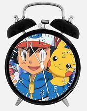 "Pokemon Pikachu Alarm Desk Clock 3.75"" Home or Office Decor E421 Nice For Gift"
