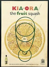 KIA-ORA Lemon Squash - Vintage Magazine Advert - Soft Drink (5 June 1954)*