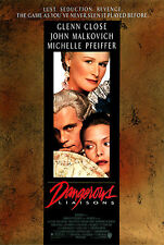 DANGEROUS LIAISONS (1988) ORIGINAL MOVIE POSTER  -  ROLLED -  HEAVY STOCK GLOSSY