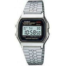 Casio A159W-N1 Vintage Retro Silver Stainless Steel Digital Unisex Watch