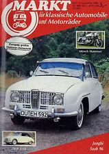 Markt 11/86 1986 DKW 3=6 AU 1000 S Jonghi Münch 4 Opel Kadett A Saab 92 95 96
