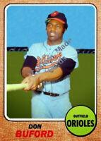 Custom made Topps 1968 Baltimore Orioles Don Buford Baseball card