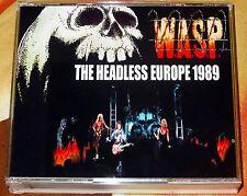 W.A.S.P. WASP-The Headless Europe Live 3 CD 1989 Kiss Cinderella Ratt Skid Row