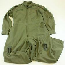Canadian Army Pilot Flyers Flight Suit Coverall Nomex OD Green 7048 LARGE
