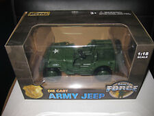 1.18  DIECAST ARMY FORCE  US WILLYS ARMY JEEP   GOLDEN WHEEL