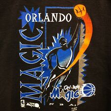 Vintage Orlando Magic T-Shirt Mens M Black 1990s NBA Basketball Double Sided