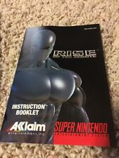 SUPER NINTENDO MANUAL RISE OF THE ROBOTS GAME INSTRUCTIONS SNES BOOK NES HQ