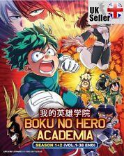 ANIME My Hero Academia Boku No Hero Academia Season 1 & 2 ENGLISH DVD - UK POST