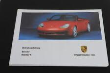 Porsche Boxster -s 986 Betriebsanleitung Modelljahr 2001 98601001
