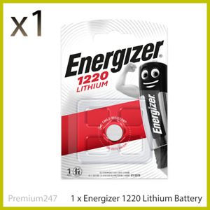 Energizer 1220 CR1220 3V Lithium Coin Cell Battery DL1220,BR1220 LONGEST EXPIRY