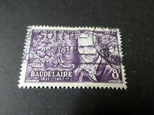 FRANCE 1951 timbre 908, BAUDELAIRE, oblitéré, VF STAMP CELEBRITY
