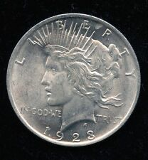 1923 PEACE DOLLAR VAM 3 DDR LOWER COIN AND LEAVES GEM BU TOP 50 HOT