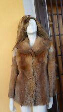 Vintage real red fox fur jacket coat jacket Uk 10 12 14 Eu 36 38 40 M