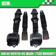 2X Universal 3 Point Retractable Seat Belts Fit for Jeep CJ YJ Wrangler 1982~95