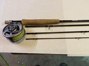 "Sage Vantage 690-4 #6 line 9'0"" 3 3/8 oz fly fishing rod and Cabellas RLS Reel"