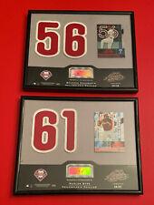 2002 Playoff Absolute Memorabilia Marlon Byrd Wall Plaque Lot Vtg MLB Autograph