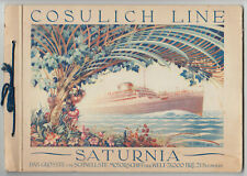 Original Broschüre, Prospekt, COSULICH LINE, SATURNIA ca. 1920 - 1930 Jahre