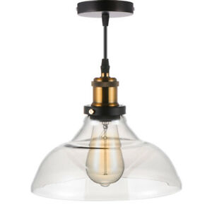 New Modern Vintage Industrial Retro Loft Glass Ceiling Lamp Shade Pendant Light~