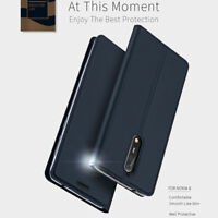 For Nokia 2 3 5 6 8 Flip Luxury Magnetic Leather Wallet Card Case Stand Cover