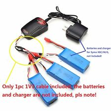 For MJX X101 Syma X8HC X8HW X8HG RC Drone Quadcopter 3in1 Battery Charging Cable