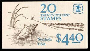 Scott BK104 22¢ Seashells Booklet MNH Free shipping in USA!
