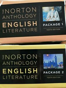 The Norton Anthology of English Literature (2018) 10th Ed. PACKAGE 1 and 2