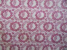 WtW Fabric Vintage Floral Leaf Wreath Circle Flower Garden Nature BTY Quilt