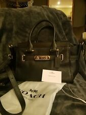 Coach  Swagger 27 Pebbled Leather Satchel Black NWT $450