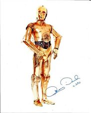 Hand Signed 8x10 photo ANTHONY DANIELS C3PO STAR WARS - Carrie Fisher + my COA
