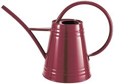 Burgundy Galvanised Steel Garden Watering Can (Holds 2.3 Litres Of Water)
