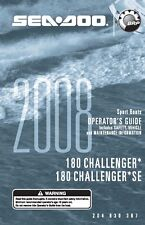 Sea-Doo Owners Manual Book 2008 180 CHALLENGER & 180 CHALLENGER SE