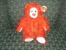 """Ty Punkies 6"""" ~ FLAME ~ RED Bear ~ Heart nose ~ RARE ~ HTF ~ MWMT ~ 2003"""